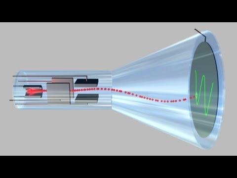 541 - Cathode-ray tube of oscilloscope.
