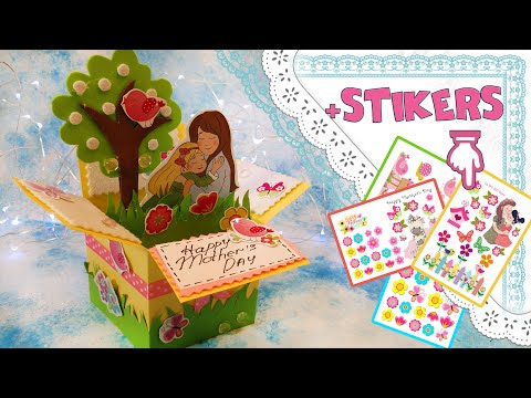 📦 Exploding Box Card Pop Up DiY 🎉 Happy Mothers Day 🌺 download links paper foamine youtube movies