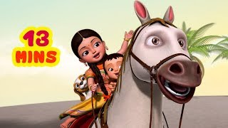 Chal Mere Ghode Chal Chal Chal and much more | Hindi Rhymes for Children Collection | Infobells