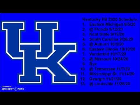 Kentucky Wildcats 2020 Football Schedule Breakdown