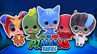 PJ MASKS 🌟 GECKO, OWLETTE, CATBOY & MORE!  with LOL SURPRISE DOLLS! Toy Transformations