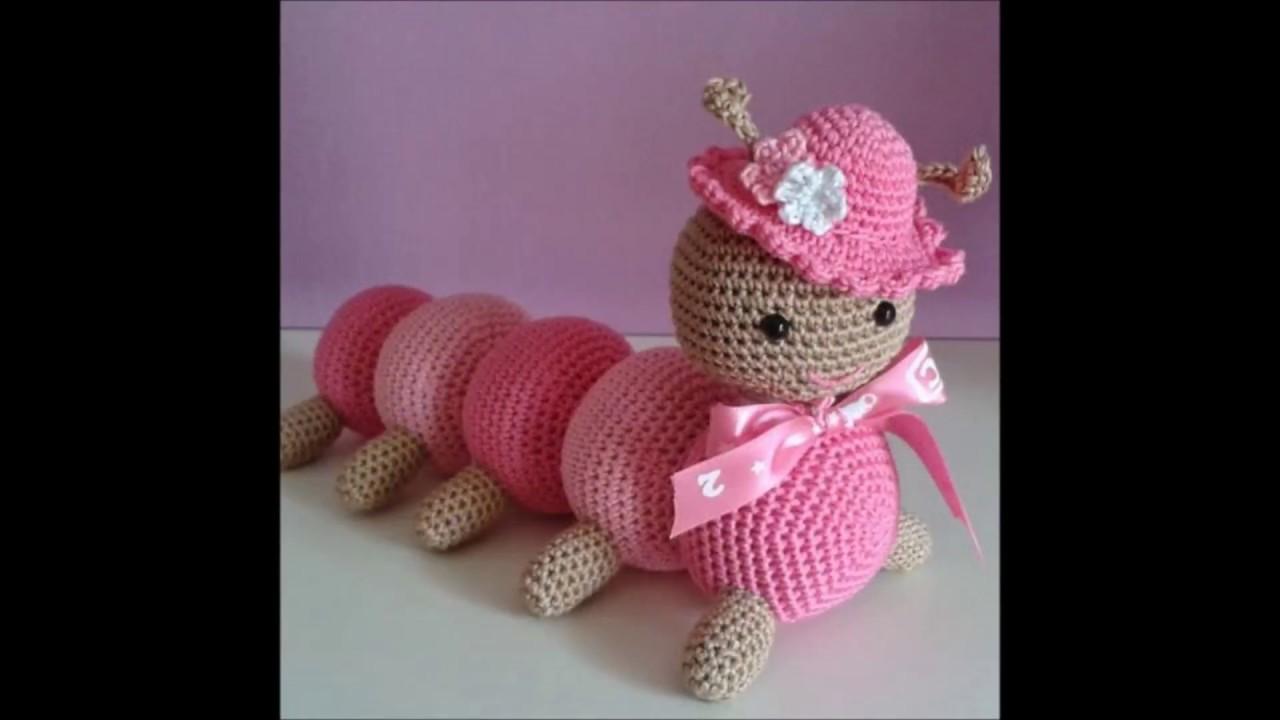 Amigurumi Caterpillar : Crochet caterpillar amigurumi youtube