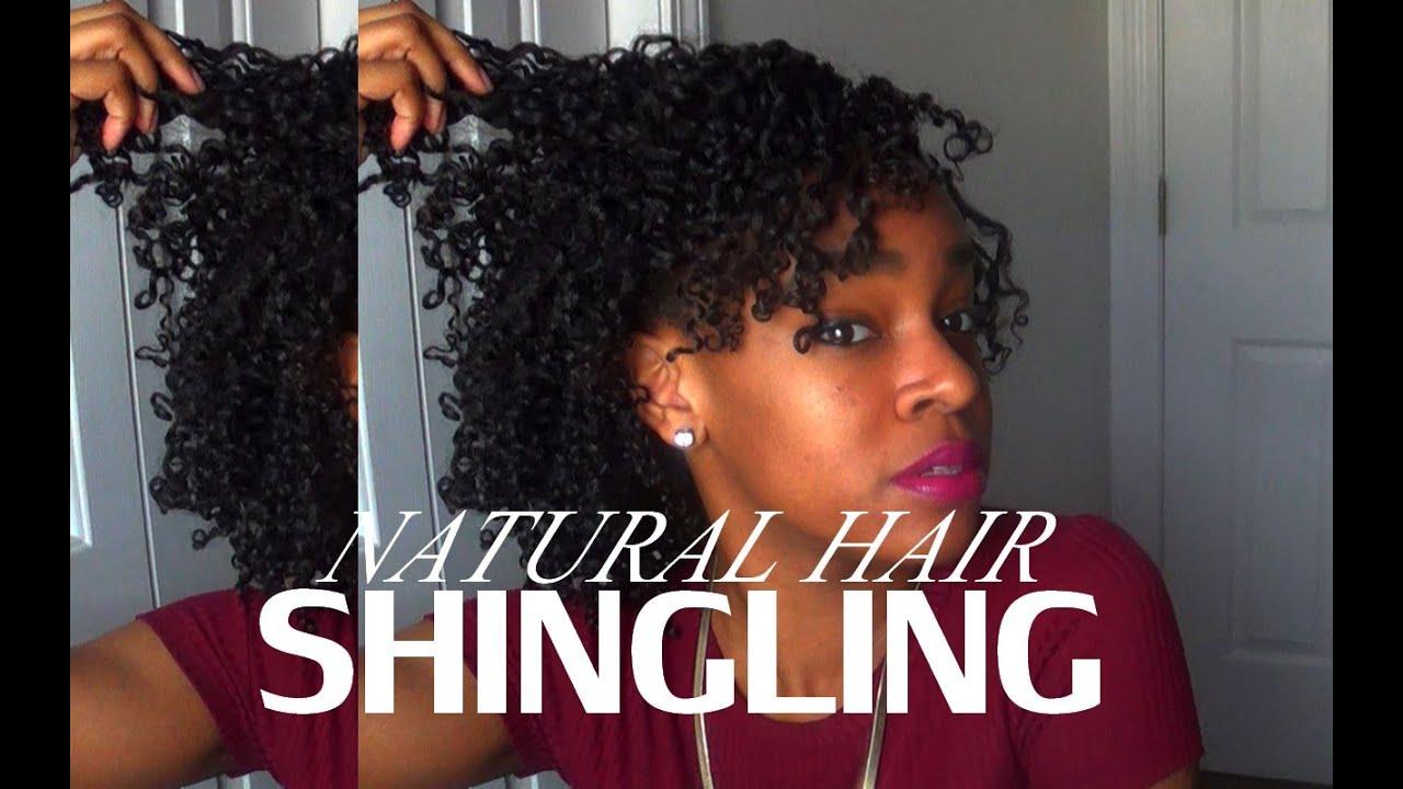 natural hair shingling