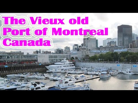 The Travel in  Vieux old Port of Montreal,Canada