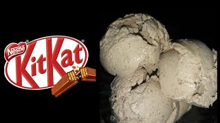 | 3Ingredients Kit Kat ice cream |Kit kat chocolate ice cream| In a blending jar Kit Kat icecream |