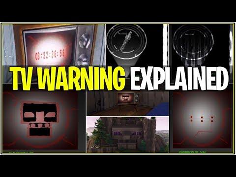 *NEW* Fortnite: TV WARNINGS FULL MEANING! *Explanation* | (Leaked Info + Rocket Launch)