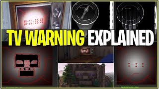 *NEW* Fortnite: TV WARNINGS FULL MEANING! *Explanation* | (Leaked Info + Rocket Launch)