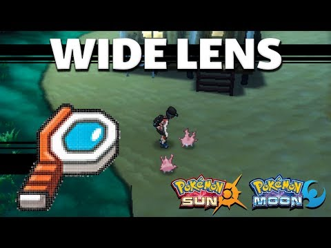 HOW TO GET Wide Lens In Pokemon Sun And Moon