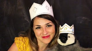 Making Paper Crowns with Lolly