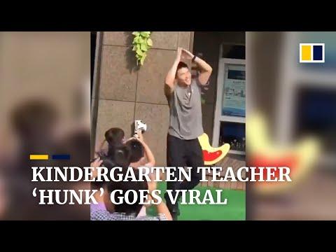 Kindergarten teacher 'hunk' in China goes viral online