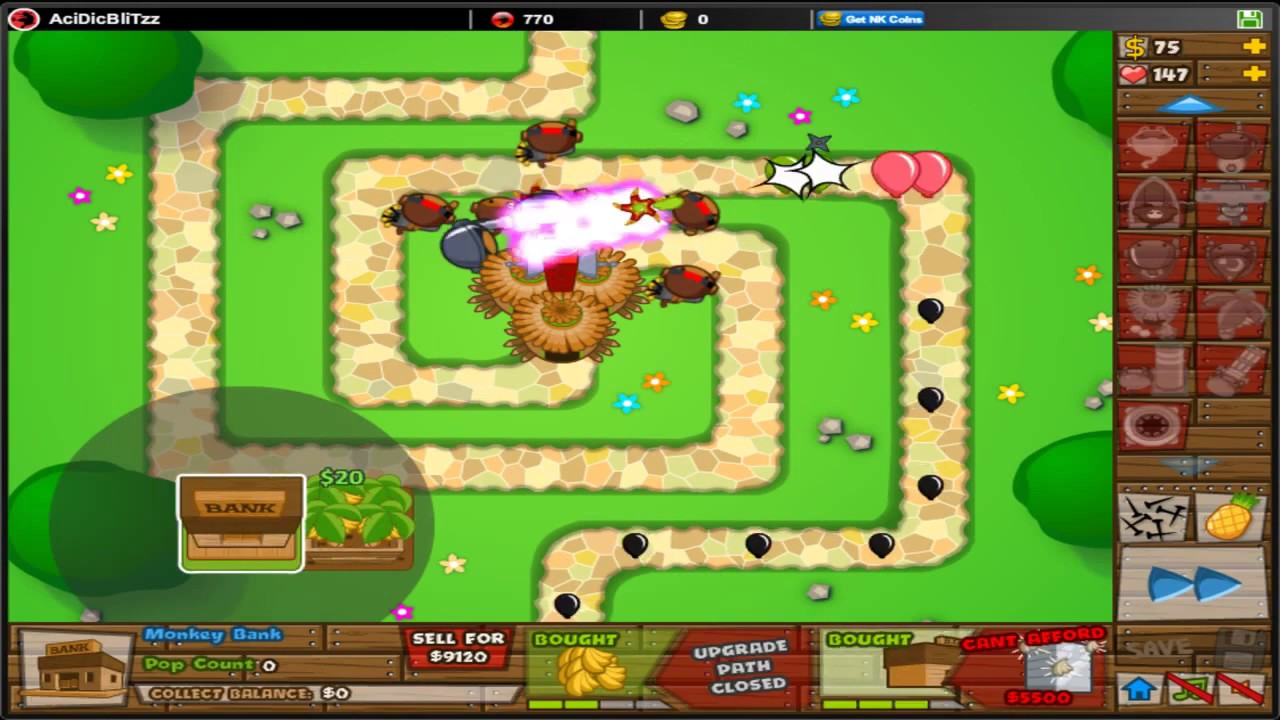 Bloons Tower Defense 5 - BTD5 - Protect Monkey Town - NEW! Special Mission