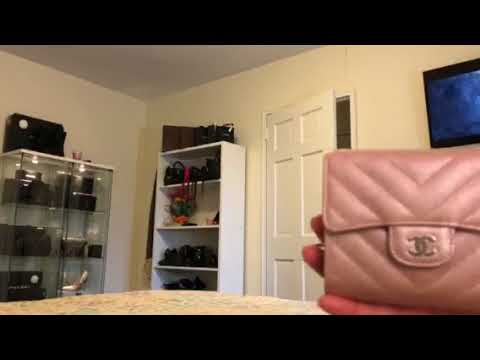 Reveal of my Chanel Iridescent light rose gold wallet - YouTube 70dcbf447d0cc