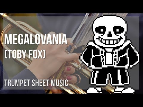 EASY Trumpet Sheet Music: How to play Megalovania by Toby Fox