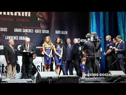 Anihi Sanchez - Katie Taylor Weigh In And Staredown