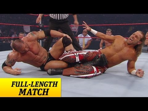 FULLLENGTH MATCH  Raw  Batista vs Shawn Michaels  Lumberjack Match