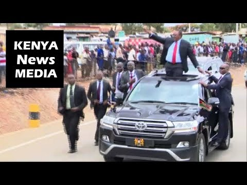 Uhuru Kenyatta INTERACTS WITH CROWD after Opening NAMANGA Border Post!!!