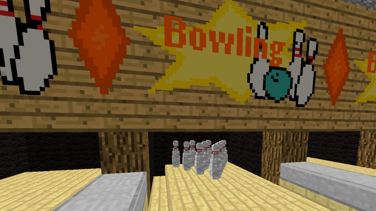 minecraft how to build a bowling alley