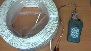 Измерение коэффициента укорочения кабеля прибором РЕЙС-50