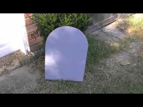 How to make inexpensive Headstones for Halloween