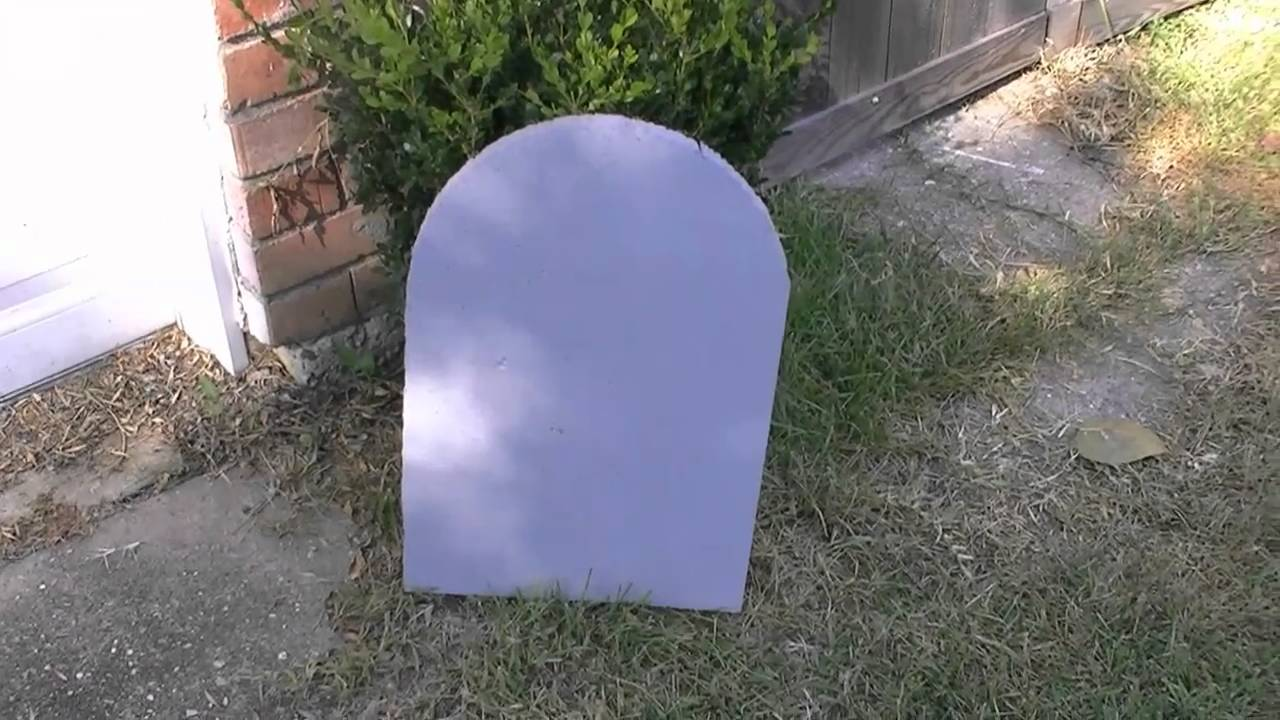 how to make inexpensive headstones for halloween - youtube