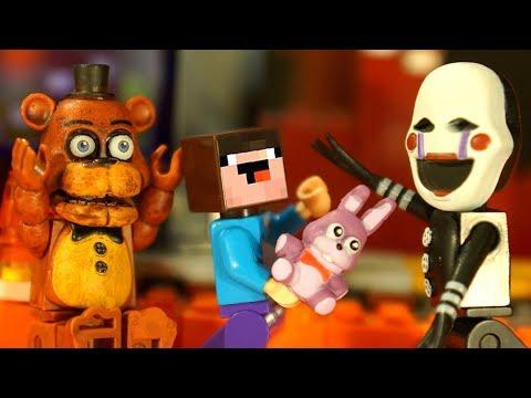 ФНАФ Лего Пять Ночей с Фредди и Лего НУБик Майнкрафт - Lego FNAF Minecraft