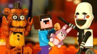 ФНАФ Лего Пять Ночей с Фредди и Лего НУБик Мультики Майнкрафт - Lego FNAF Minecraft Animation