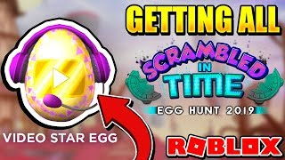 GIVING THE VIDEO STAR EGG + ALL EGG LOCATIONS IN ROBLOX EGG HUNT 2019!!