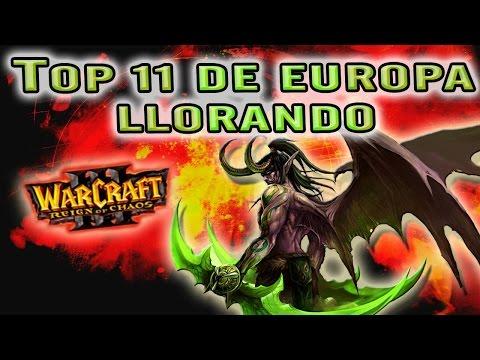 WARCRAFT III: REIGN OF CHAOS | NOS ENFRENTAMOS AL 11º DE EUROPA Y LLORA - Gameplay Español