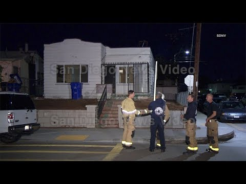 Man rescued from chimney after trying to break into home, City Heights (San Diego)