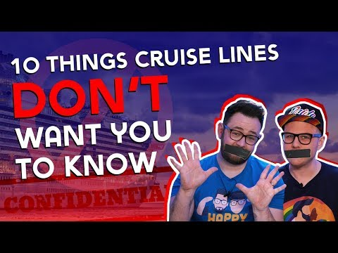 10 Secrets Cruise Lines DON'T Want You To Know 🤫