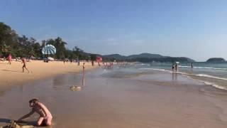 Пхукет. Таиланд. Июнь 2017. Пляж Карон бич. Закат на Пхукете