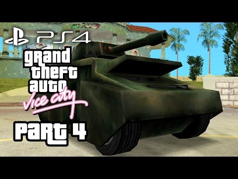 Grand Theft Auto Vice City PS4 Gameplay Walkthrough Part 4 - TANK (GTA Vice City PS4)