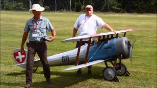 Rhinebeck Jamboree 2013   Half Scale Fokker Dr1  Nieuport 28