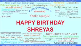 Shreyas   Languages Idiomas - Happy Birthday