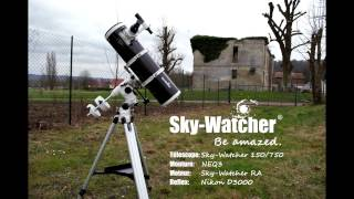 Télescope N 150/750 Sky-Watcher NEQ-3 Nébuleuse d'Orion (15 02 2017)