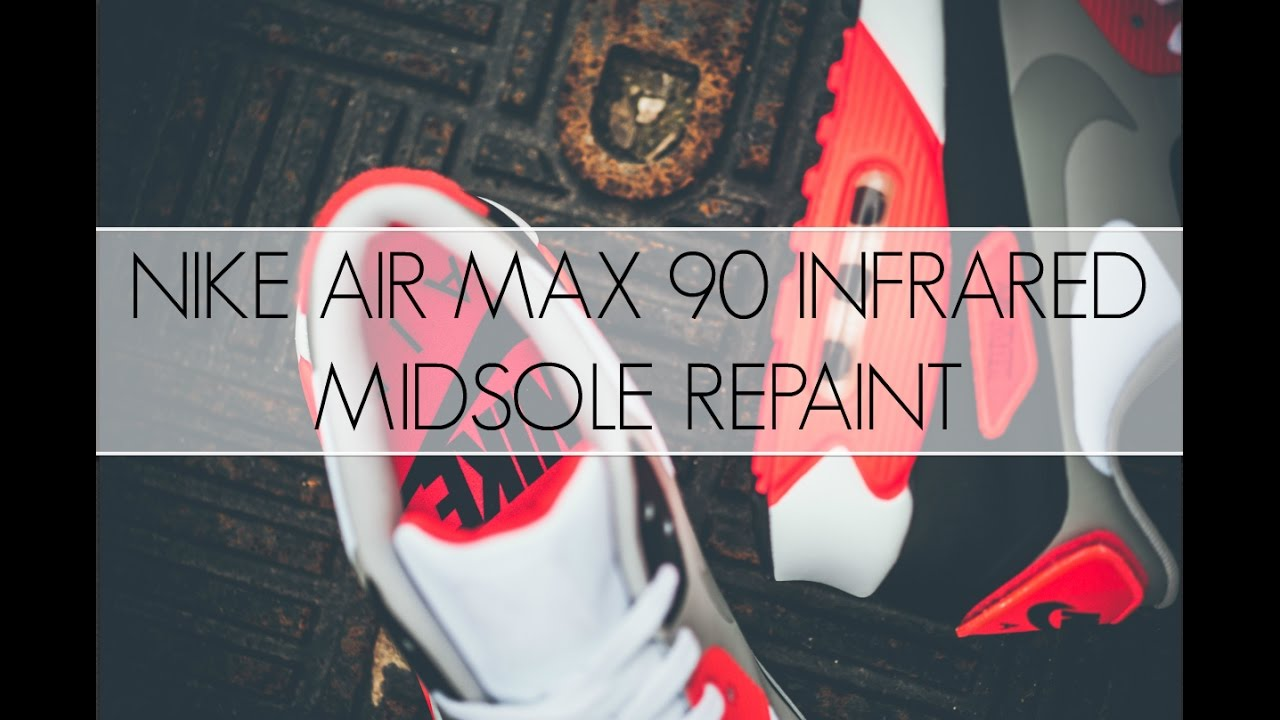 1690d7ff44be5a 2012 Nike Air Max 90 Infrared Midsole Repaint - YouTube