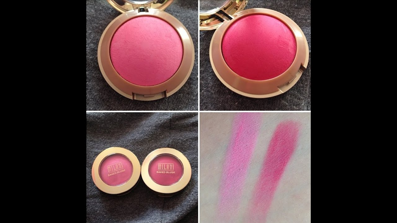 Bella Rosa Milani Baked Blushes Bella Rosa And Delizioso Pink Review Swatch