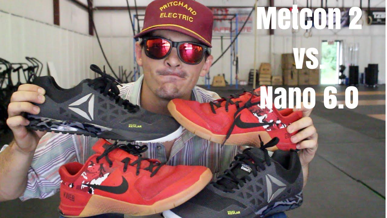 Nike Metcon 2 Vs. Reebok Nano 6.0 - YouTube f6e0ed605