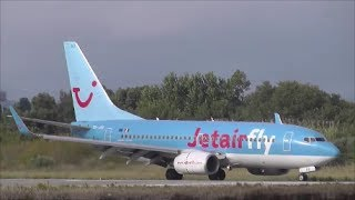 ►Jetairfly ►B737-700 ►OO-JAO landing and taxiing Corfu Airport [LGKR/CFU]