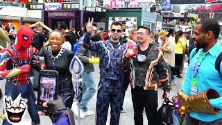 IRON MAN Asks Superheroes to Cover for Him at NEW YORK COMIC CON!! Real Life Marvel Prank!!