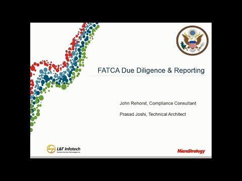 Webcast - Foreign Account Tax Compliance Act FATCA