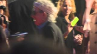 Keith Richards at Hurricane Crossfire Rolling Stones UK Premiere 18th October 2012