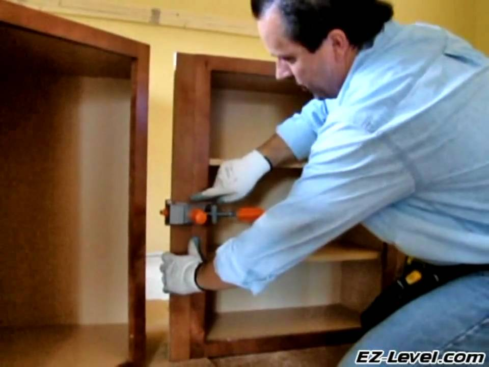 How To Install Wall Cabinets (Part 3 of 4) - YouTube