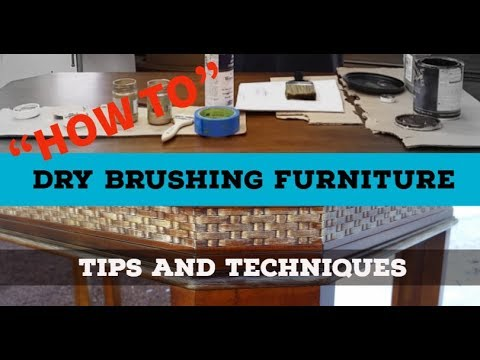 diy furniture painting techniques how to dry brush wood furniture
