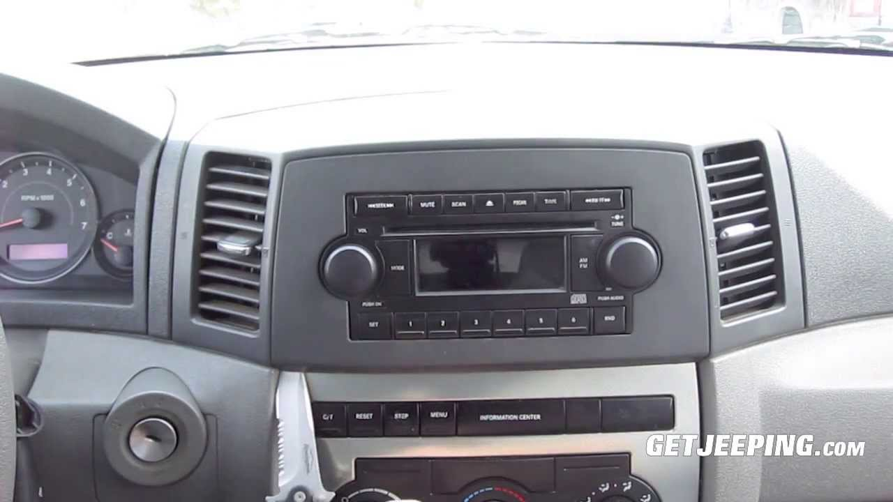 how to install radio head unit in a 2005 jeep grand cherokee wk getjeeping youtube [ 1280 x 720 Pixel ]