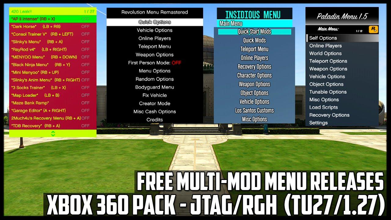 Mod menu gta v xbox 360 download 1 27 | GTA 5 mods  2019-07-01