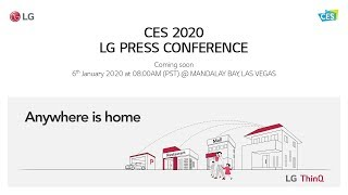 LG at CES 2020 - LG Press conference live stream