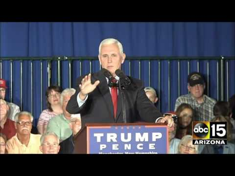 Gov. Mike Pence sweetly introduces his family at New Hampshire event