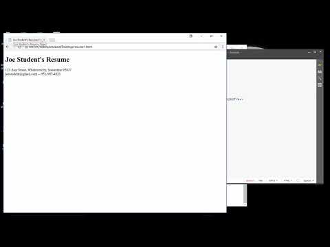 Creating An Online Resume Page In HTML5 Using Brackets