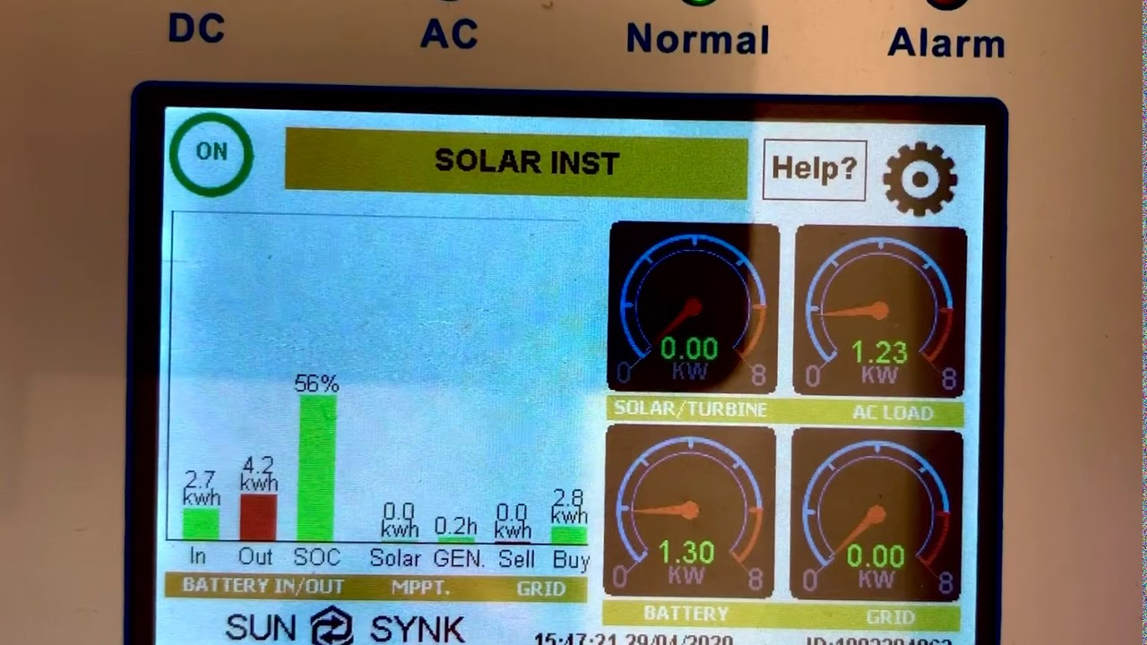 Sunsynk Inverter UI